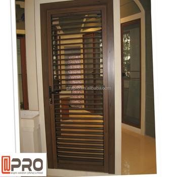 Power Coating Wood Exterior Door Shutter Designs - Buy Door Shutter ...