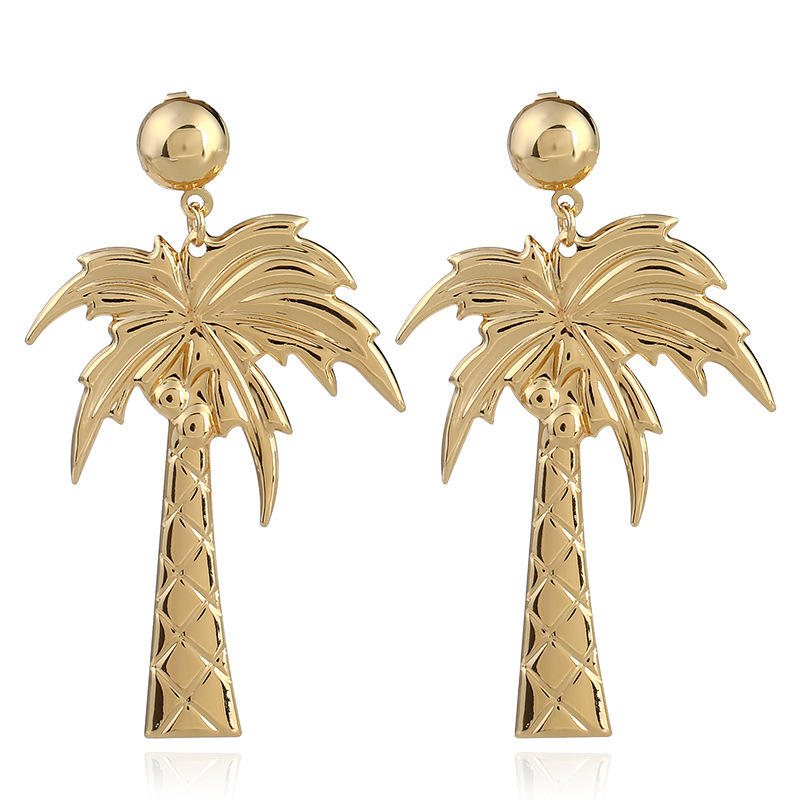 Zooying wholesale cheap alloy products gold plated coco earring