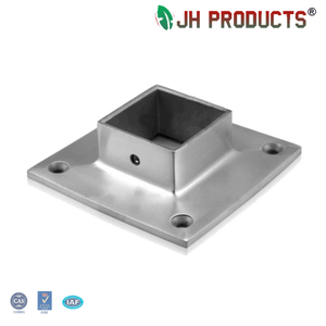Stainless steel 304 316 square post handrail base plate cover hot sale