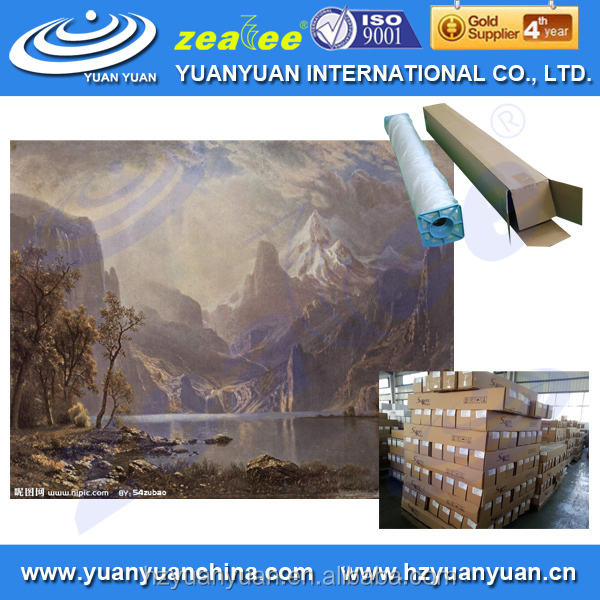 Meest populaire 2015 yuanyuan wp-280cvm-fr brandvertragende art canvas roll
