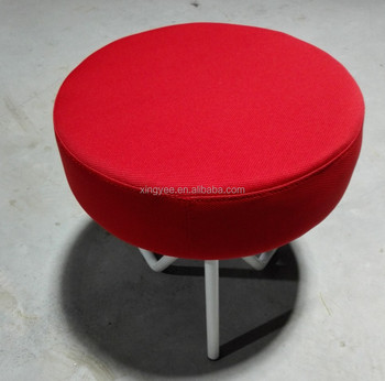 Modern Living Room Furniture Home Fabric Round Small Chairs Low Height  Stool Tabouret Linen Velvet Ottoman - Buy Tabouret,Tabouret Bar,Small Stool  ...