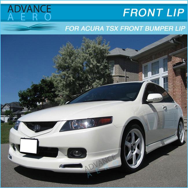 For Acura Tsx Jdm Urethane Front Bumper Lip Spoiler Body Kits - Acura tsx front bumper