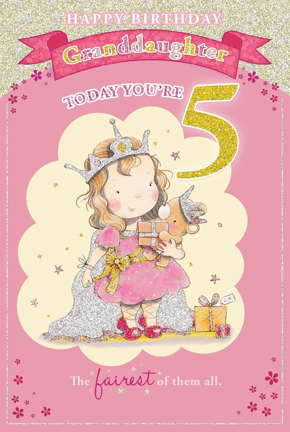 Candy Club Granddaughters 5Th Birthday Card
