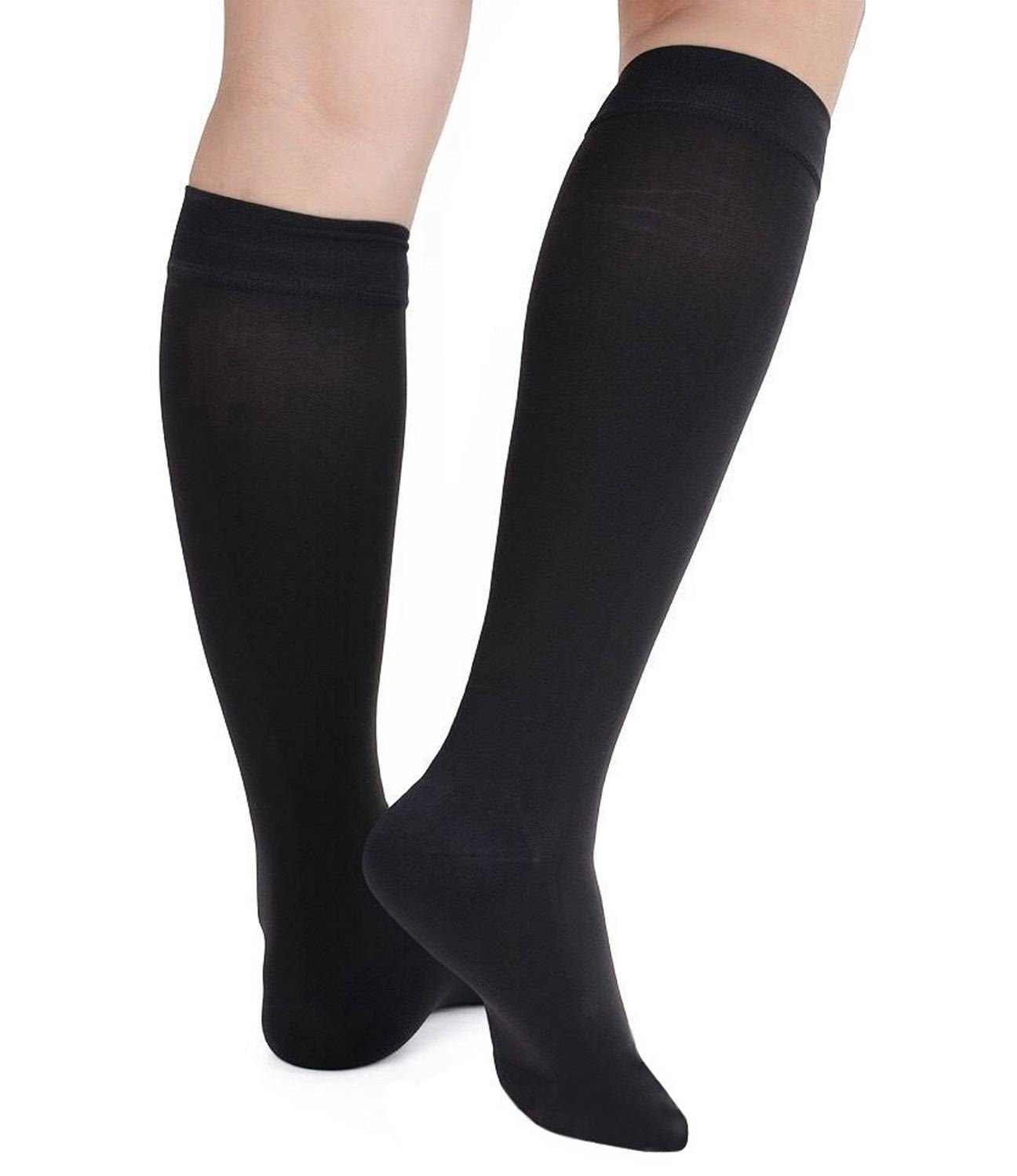 3c5fead0942a8e Get Quotations · Runee High Quality Close Toe Medical Compression Sock Knee  High Hosiery Stocking For Swelling, Varicose