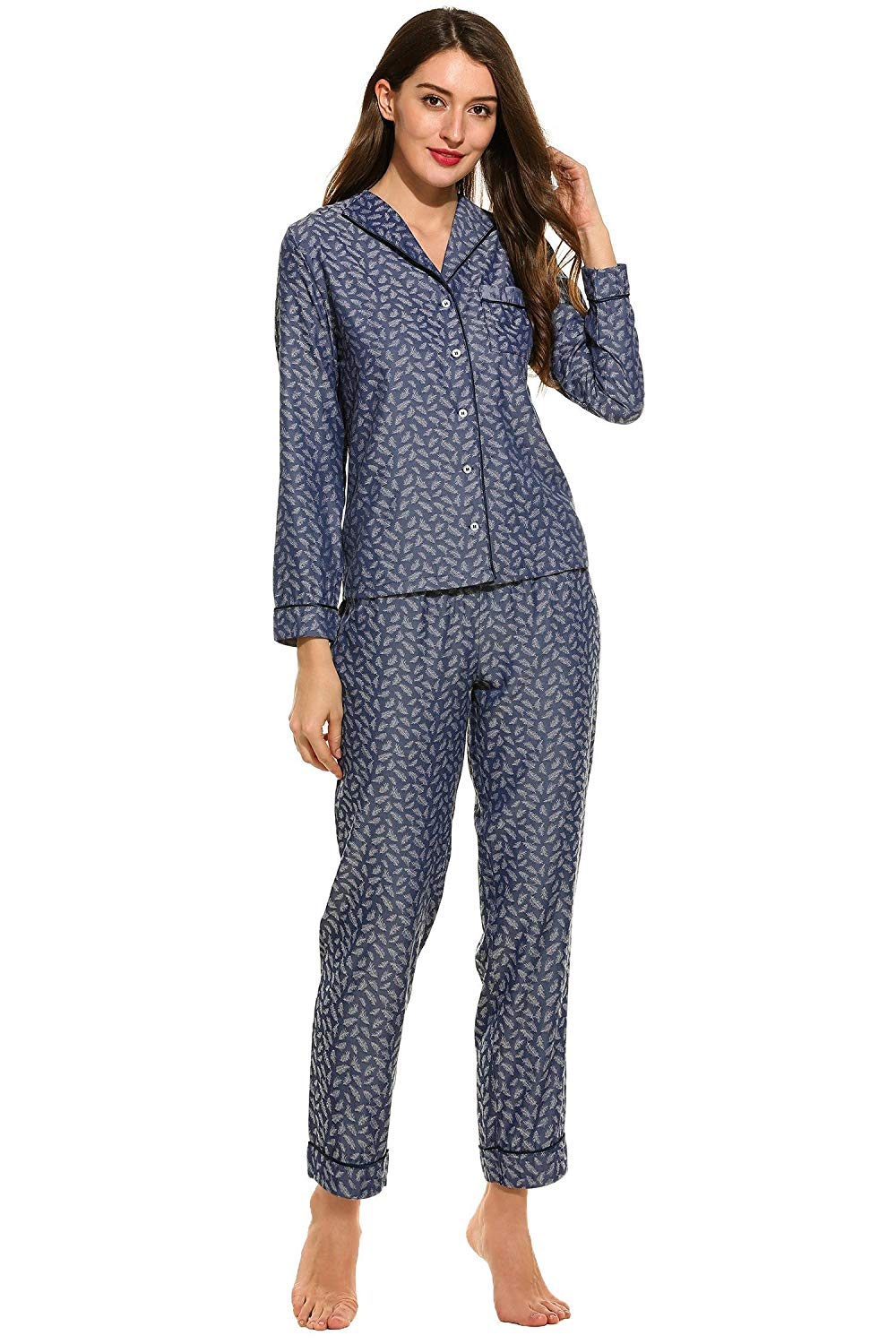 a026d0e533 Get Quotations · Goodfans Soft Pajama Sets Casual Pajama Sets Pajama Sets  for Women Casual Summer Pajama Sets Sets