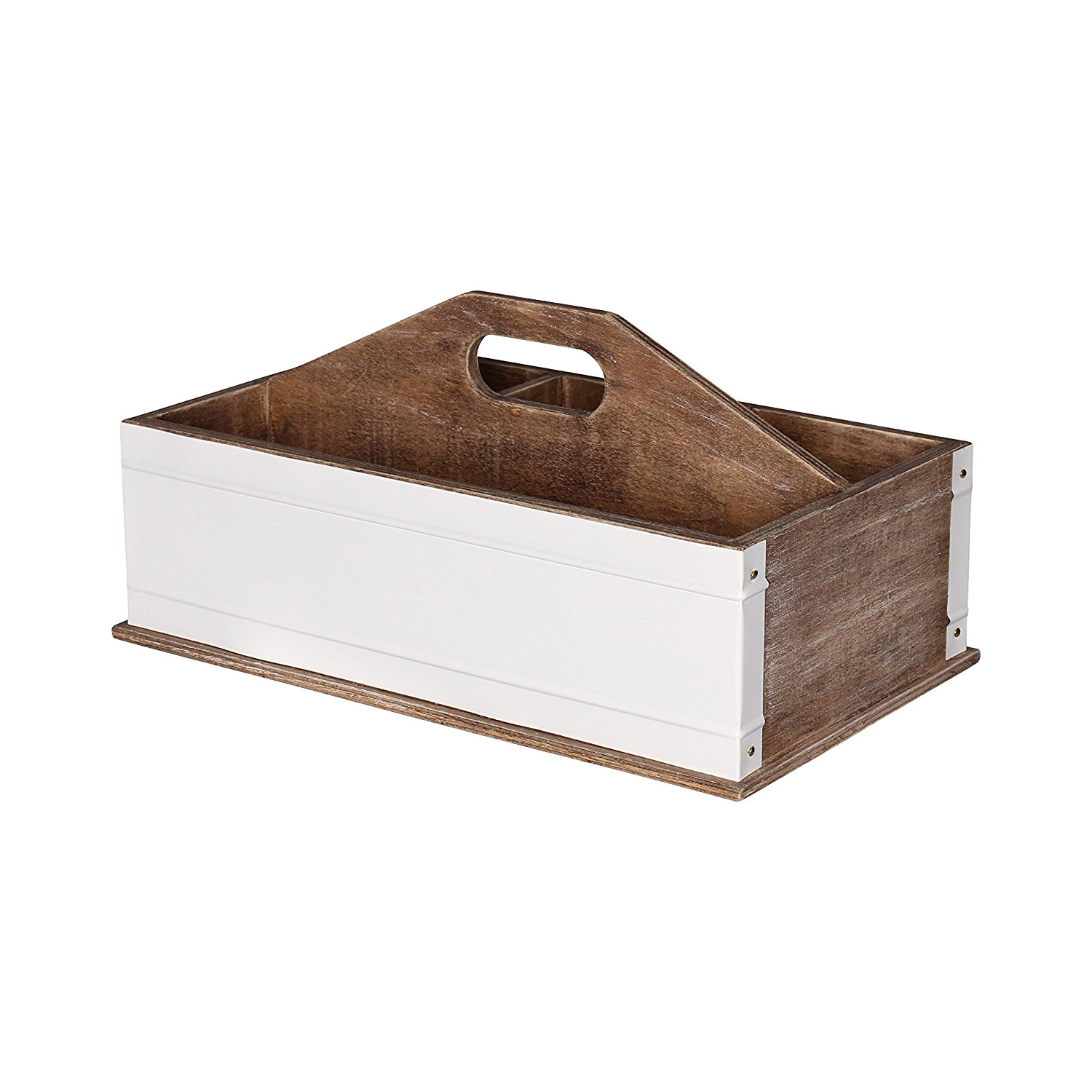 Get Quotations Kate And Laurel Industrious Desktop Office Supply Caddy Organizer Rustic Wood White