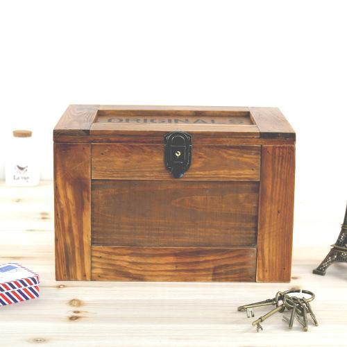 get quotations zakka day one grocery old wooden wood large lockable storage box finishing debris storage box