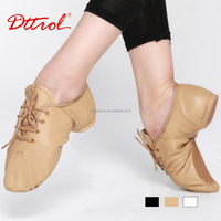 D004715 Dttrol Lace Up Split - Sole Leather Jazz Shoes