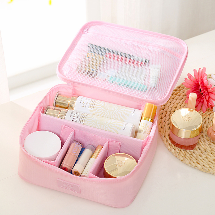 Customized cosmetic makeup toiletries make up brush pouch organizer bag