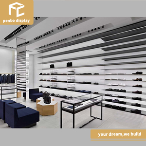 Modern style commercial wall mount retail showroom shoes display rack store fixtures furniture shoes shop display