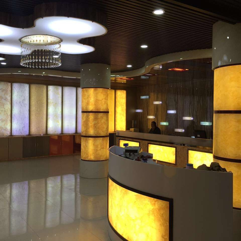 Led Backlit Thin Translucent Wood Wall Panel System In