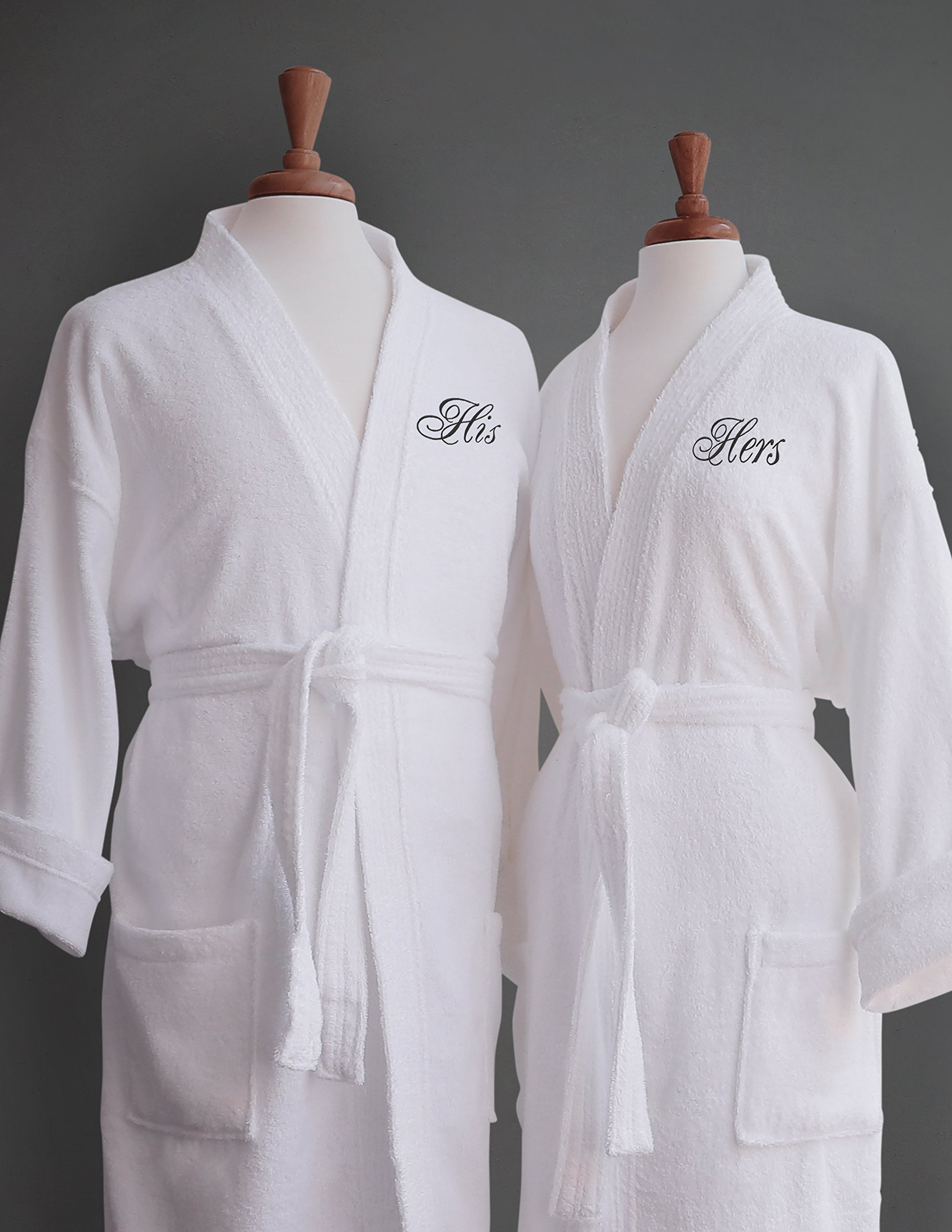 0fa540a9ed Get Quotations · Luxor Linens - Terry Cloth Bathrobes - 100% Egyptian  Cotton His   Her Bathrobe Set