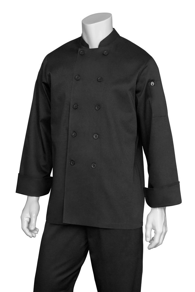 Chef Works BAST Bastille Basic Chef Coat, Black, 4X-Large