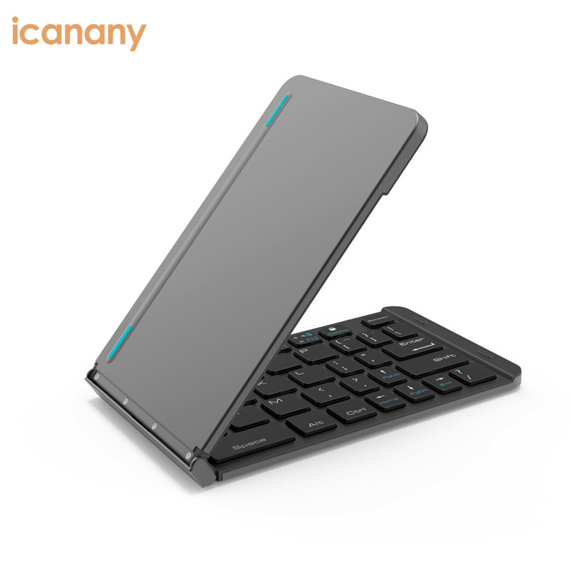 Folding Bluetooth Keyboard Jelly Comb Rechargeable Portable BT Wireless Foldable Mini Keyboard Rohs for Smartphone