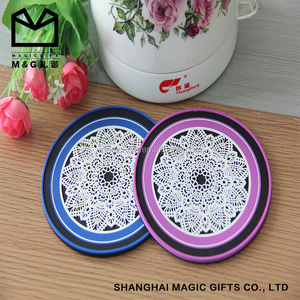 wine cup coasters rubber/silicone/spft pvc for sale