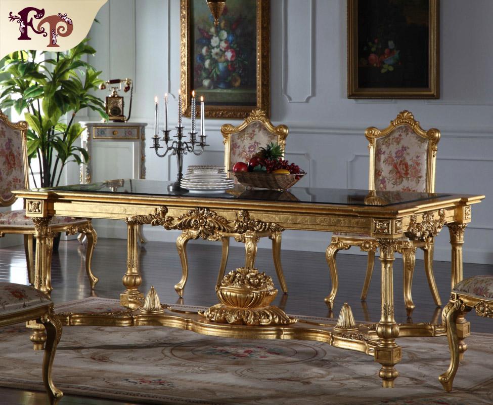 Europese meubels klassieke eetkamer meubilair hand gemaakt royalty klassieke dining set - Meubels set woonkamer eetkamer ...