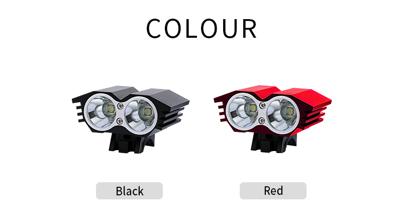 2 x Cree XM-L T6 led torch xml t6 bike light 1800 lumen led bicycle light with high quality