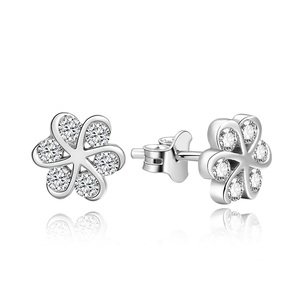 POLIVA Simple Fashion Ear Ring Charm Jewelry Type 925 Sterling Silver AAA Cz Abstract Line Stud Earrings