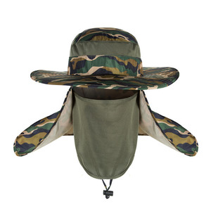 NB-283 Summer Outdoor Sun Protection Fishing Cap Neck Face Flap Hat Wide Brim Face Cap
