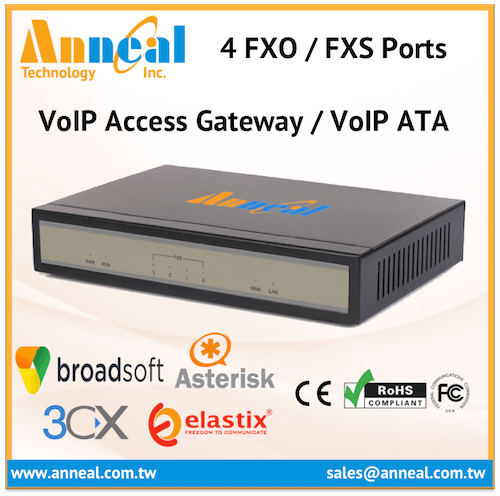 Convenient Easy to Use 4 FXS Port VoIP SIP IP PBX Analog Gateway