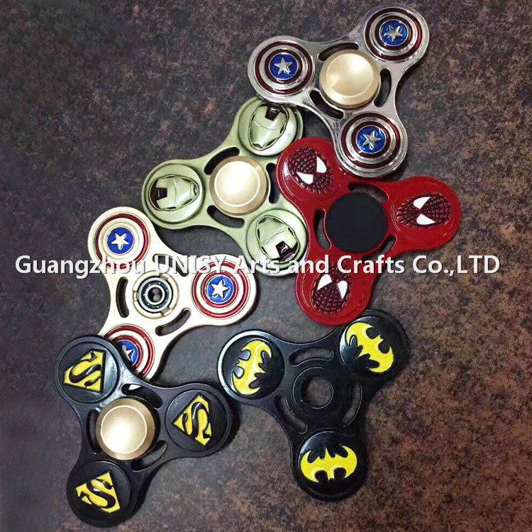 2017 Hot sales Captain America hand spinner /America Captain fidget Spinner batman Fingertip Gyro Decompression Anxiety Toys