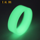 Green Glow Ring Core,8mm Mens Wedding Band Tungsten Carbide Titanium Damascus Wood Sleeve Ring