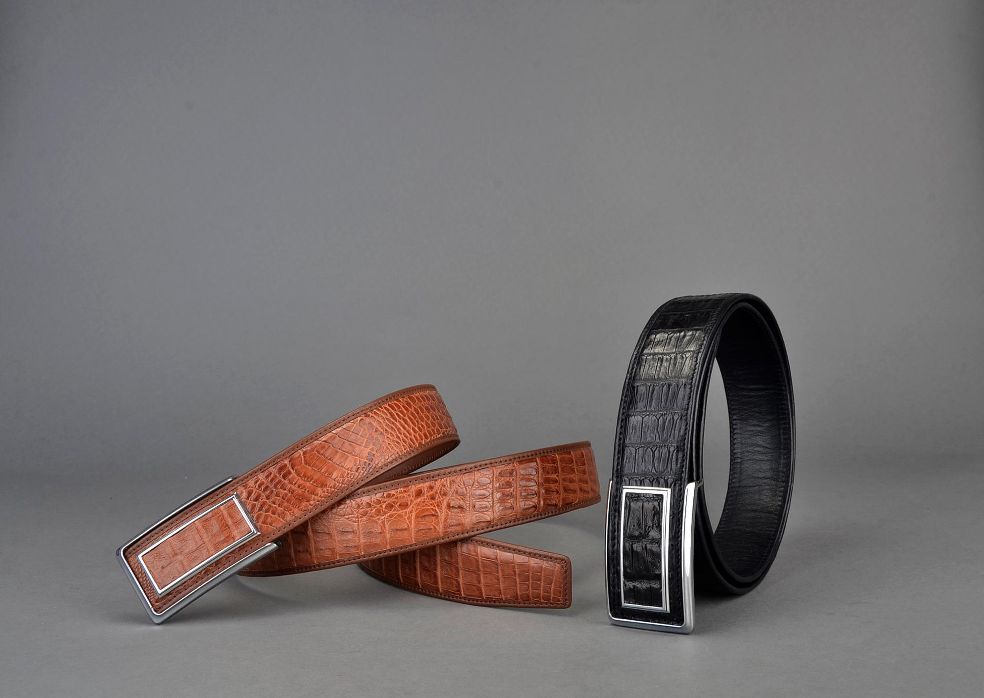 Real Crocodile Leather Belt For Men