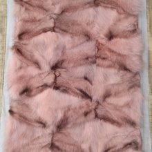 Latest hot sale colorful adorable style silver fox fur plate