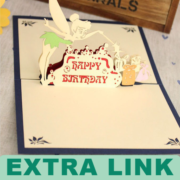 Custom Logo Decorative Paper 3d pop up card