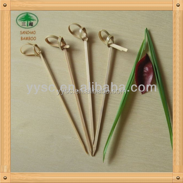Fruit 18CM flower knotted bamboo skewers
