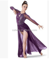 2016 New !! MBQ825 Adult sexy purple sequin ballet jazz dance dress costumes