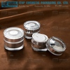 YJ-AG Series high quality 15g 30g 50g silver plastic jar cosmetic