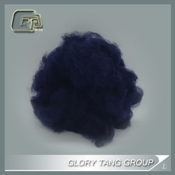 GTR16 100% dyed solid polyester staple fiber 1.5DX38MM
