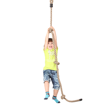 Children Swing Set Pe Climbing Rope With Disk Plate