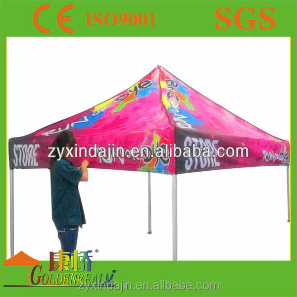 Eye catching portable 10x10 ft patio decoration party tent with flame retardent fabric