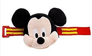 Disney Plush Mickey Mouse Bracelet Purse,smiling Plush Mickey,striped Adjustable Band,zipper