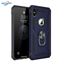 Maxshine Shockproof 킥 Mobile Phone Case 대 한 Iphone Xs Max, Mobile Cover 와 Ringfor Samsung S8 S9 S10