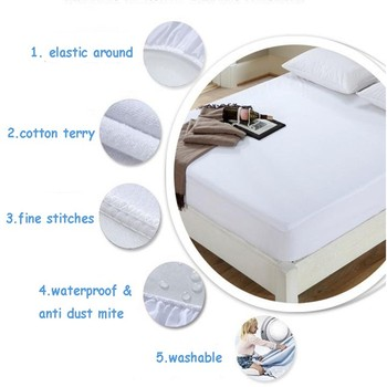 Twin/Full/Queen/King Cotton Terry Waterproof Mattress Protector Bed Bug Proof Mattress Pad Cover For Bed Mattress Online Shop
