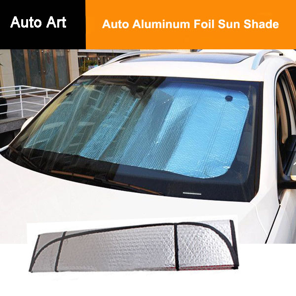 pliable voiture pare soleil de pare brise fen tre pare auto aluminium foil sun shade pare. Black Bedroom Furniture Sets. Home Design Ideas