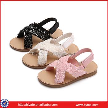b665e7d99d79 Little girl summer new style leather sandal flat rubber casual shoes for baby  girl