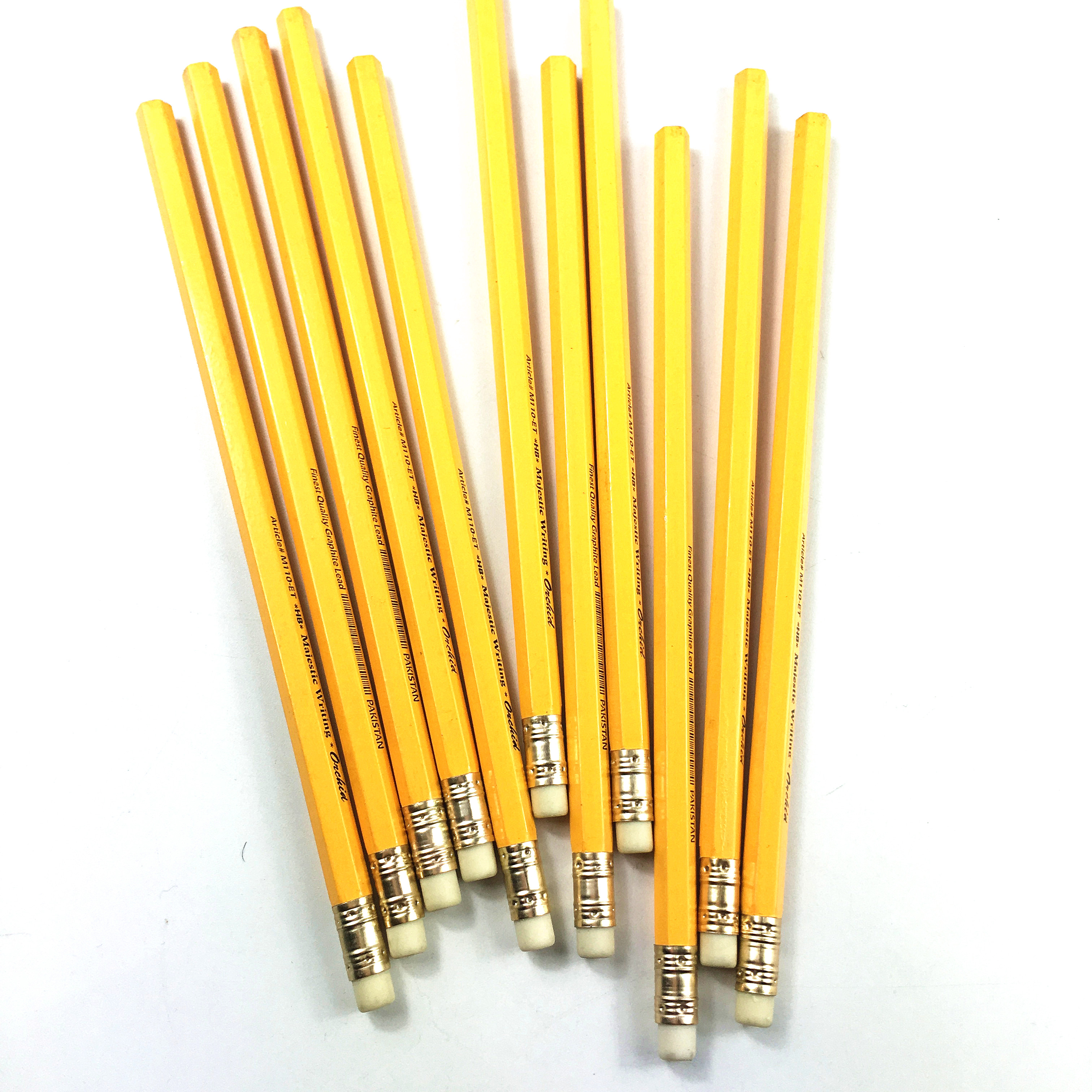 Top Quality Wooden Yellow HB Pencil With Eraser With EN71,FSC Certificates Free Samples