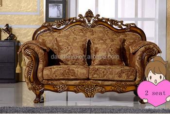 New Design Ethnic French Furniture Velvet Fabric Sectional Sofa Set
