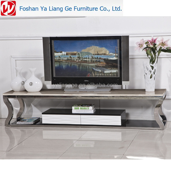 Tv Cabinet Used Marble Or Gl And Stainless Steel Metal Modern Stand With Drawers