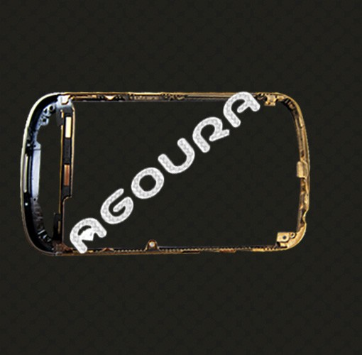 OEM bezel gold with diamond frame for Blackberry Q10, gold housing with diamond