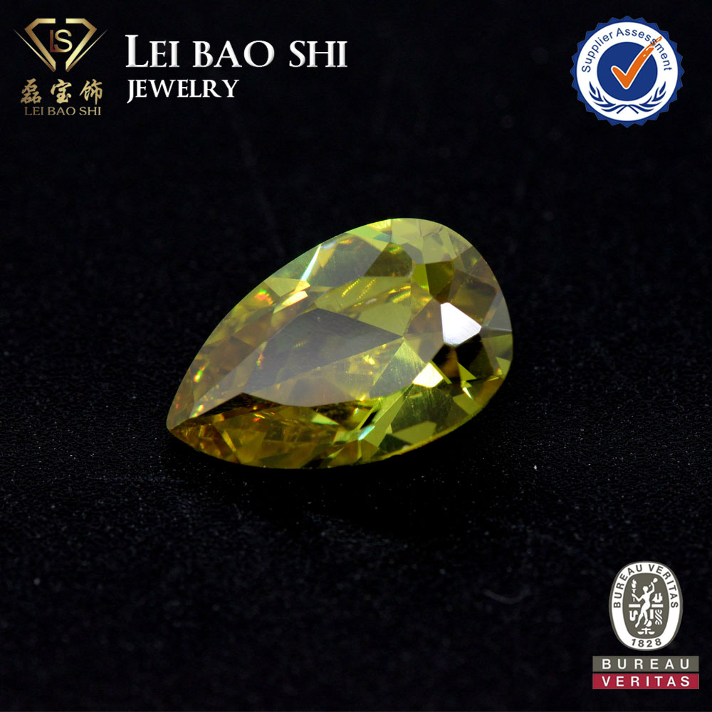 Color Change Optical Special Effects and Synthetic (lab created) Pear Shape cubic zirconia gemstone beads
