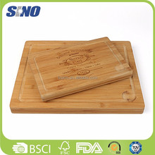Healthy Eco-friendly Surfboard Brown Bamboo Square Cutting Board
