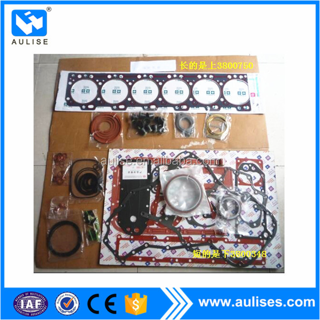 dongfeng engine spare parts 3800348+3800750 up +down engine repair gasket kits