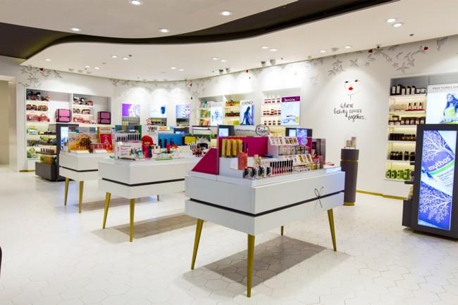 Super U Shopfitting Retail Display Cosmetic Shop Counter