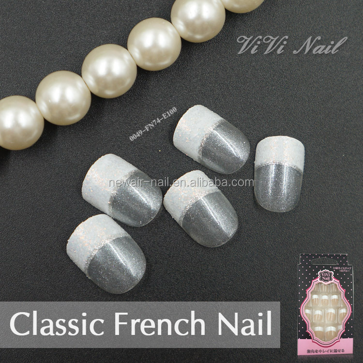 French Manicure Fake Nails Wholesale, Home Suppliers - Alibaba