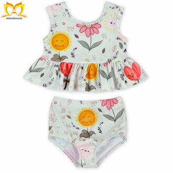 a798828f32887 Posh Baby Girls Summer Boutique Smile Flower Printed Beachwear Wholesale  Cute Kids Swimwear. - Buy Girls Swimwear Ruffle Desig,Wholesale Kids Girls  ...
